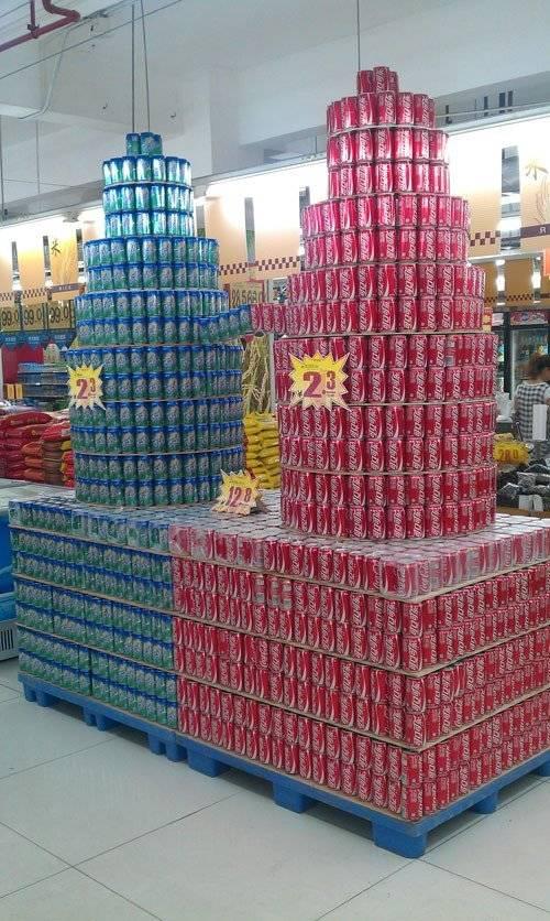 湛江晚报报道昌大昌海滨店:创意陈列 玩转超市(2)图片