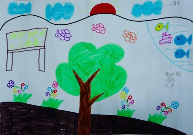 1儿童环保绘画大赛一等奖作品图片