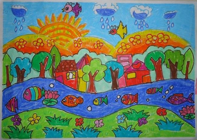 昌大昌海滨店5.1儿童环保绘画大赛获奖作品(2)图片