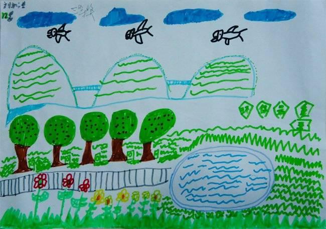 昌大昌海滨店5.1儿童环保绘画大赛获奖作品(2)